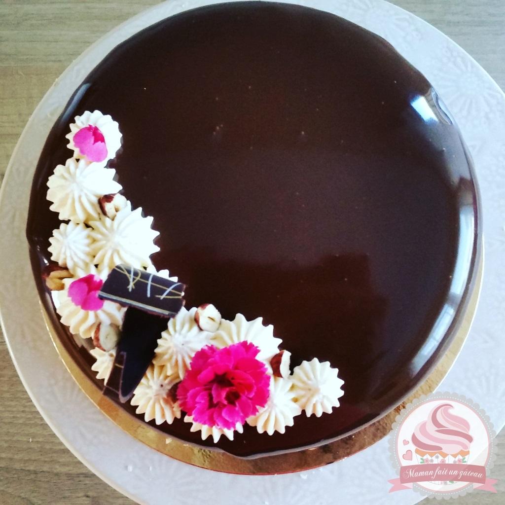 Entremet chocolat caramel maman fait un g teau maman for Glacage miroir caramel