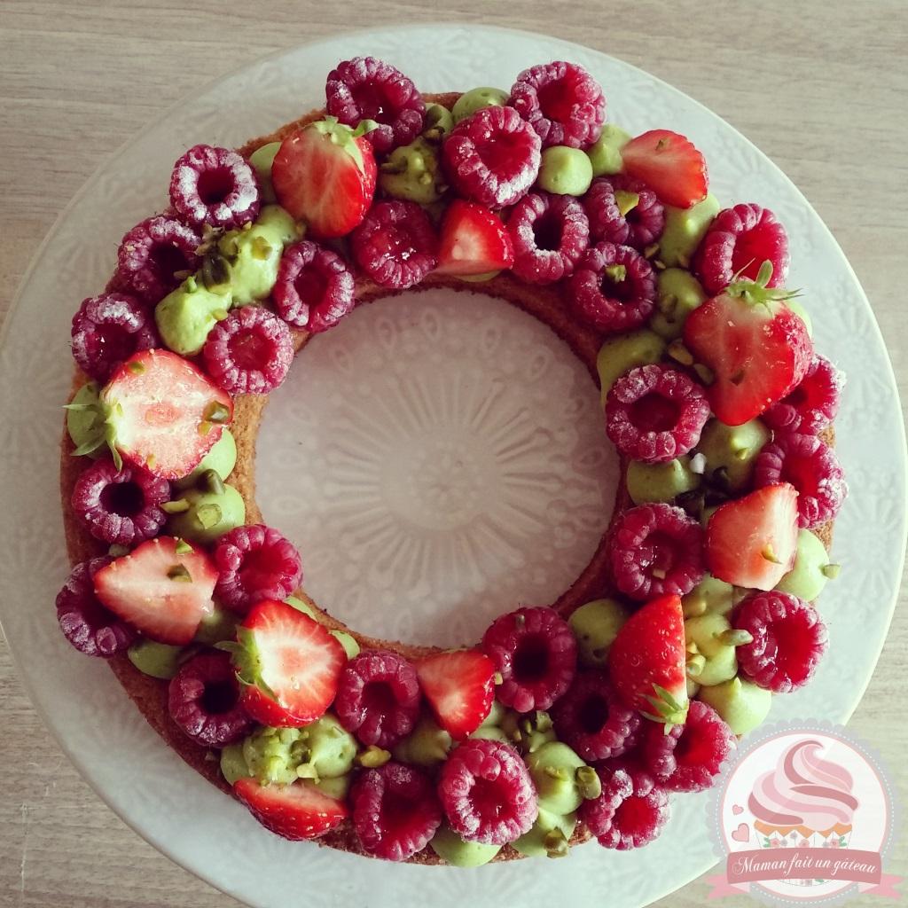 Gateau fraise framboise