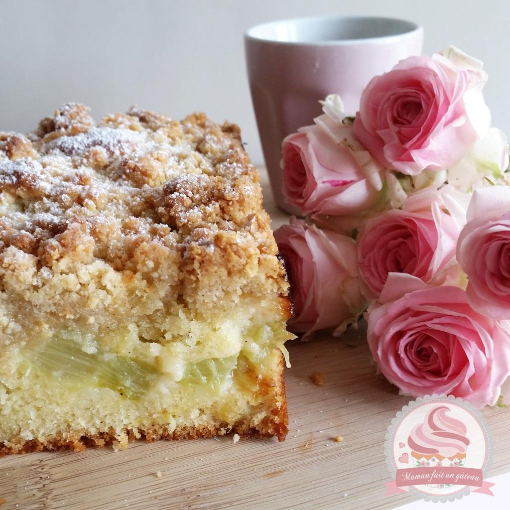 Crumb Cake Rhubarbe Fleur D Oranger Maman Fait Un Gateau Maman